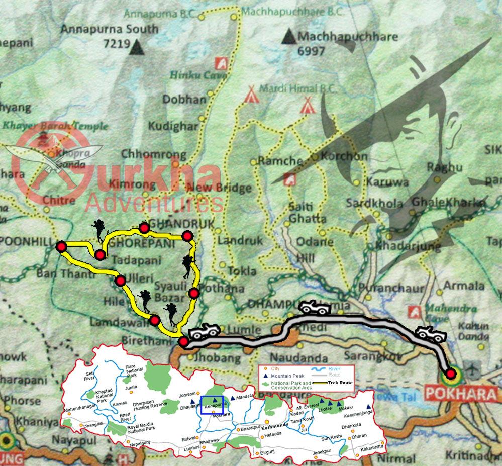 ghandruk-ghorepani-poon-hill-trek-map