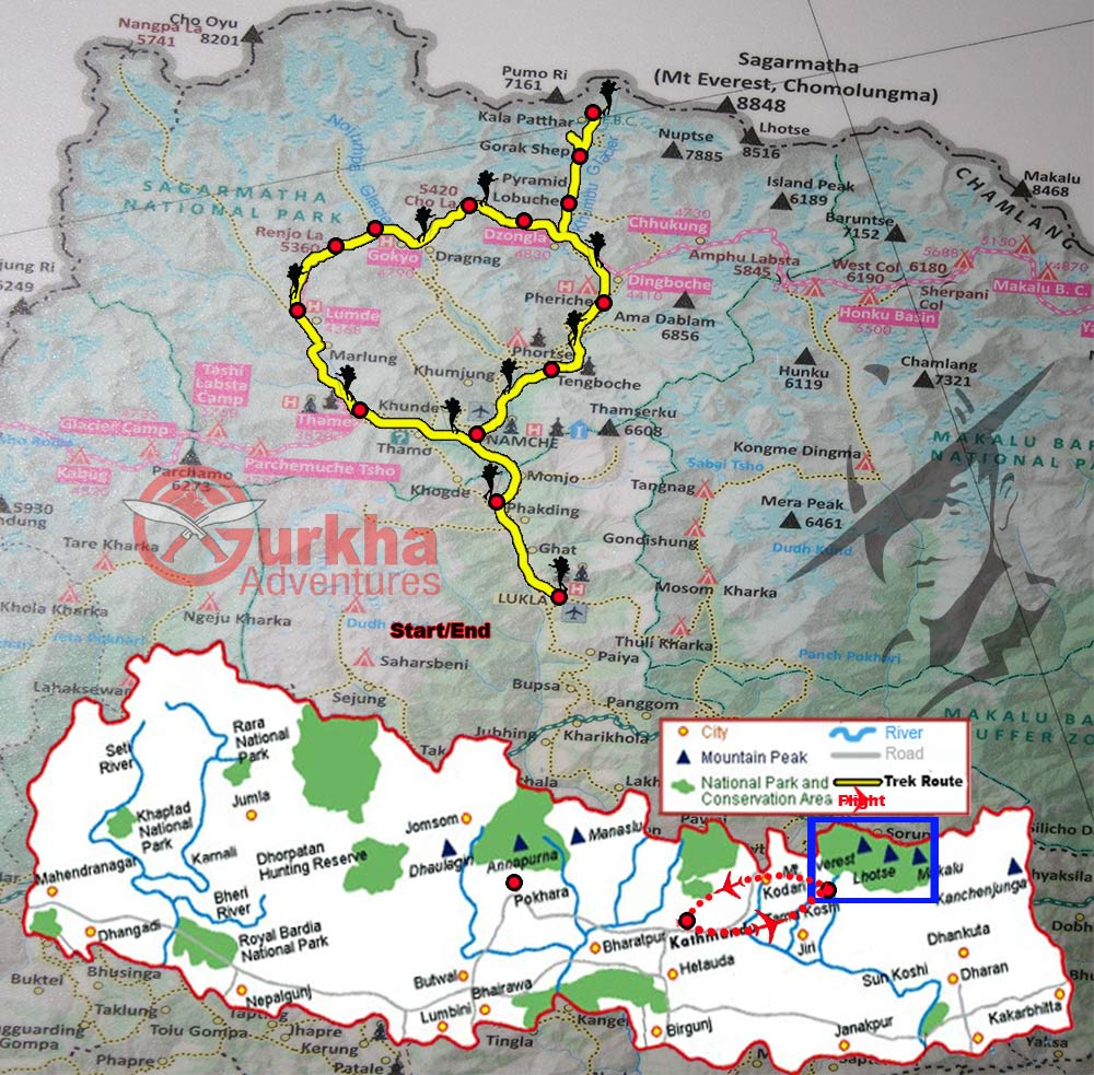 renjo-la-pass-cho-la-pass-and-kalapatthar-trek-map