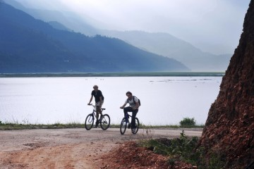 Cycling in pokhara